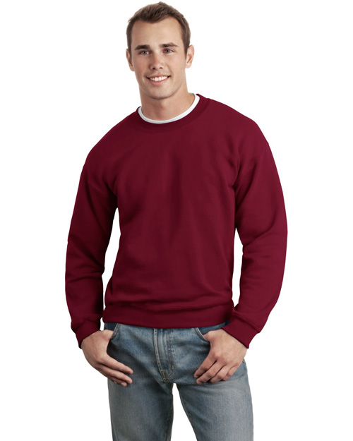 Gildan 12000 Mens Ultra Blend Crewneck SweatShirt Cardinal Red at bigntallapparel