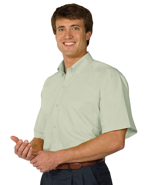 Edwards 1245 Men Short Sleeve Soft Touch Poplin Shirt Cucumber at bigntallapparel