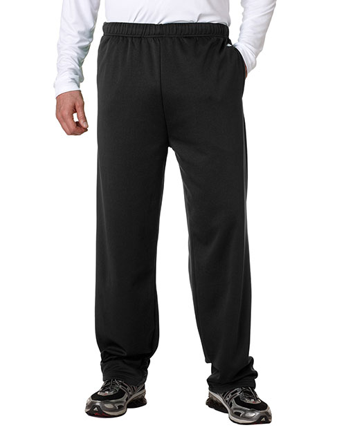 Badger 1478     Adult Performance Open-Bottom Poly Fleece Pants  Black at bigntallapparel