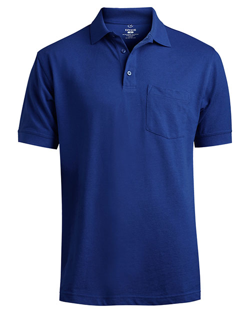 Edwards 1535 SOFT TOUCH SHORT SLEEVE ALL COTTON PCKT PIQUE POL ROYAL at bigntallapparel