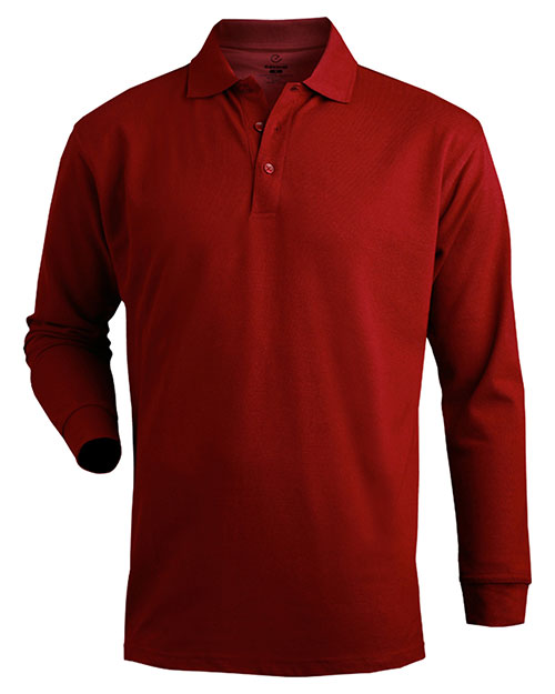 Edwards 1540 SOFT TOUCH LONG SLEEVE ALL COTTON PIQUE POLO BURGUNDY at bigntallapparel
