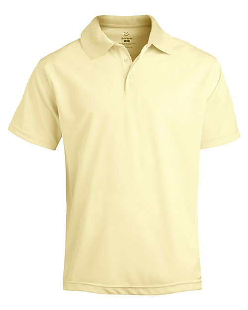Edwards 1576 MEN'S DRY-MESH HI-PERFORMANCE POLO BUTTERCUP at bigntallapparel
