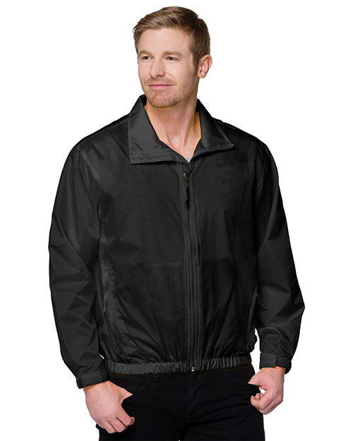 Tri-Mountain 1700 Mens Unlined Nylon Jacket Black at bigntallapparel