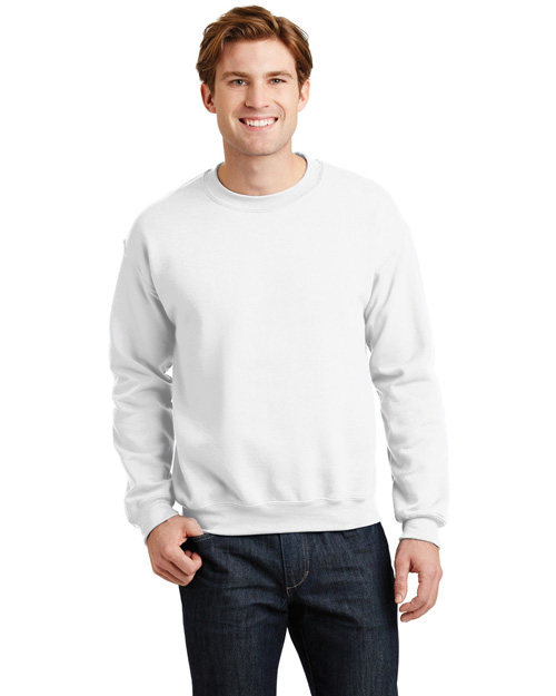Gildan 18000 Mens Heavy Blend Crewneck SweatShirt White at bigntallapparel