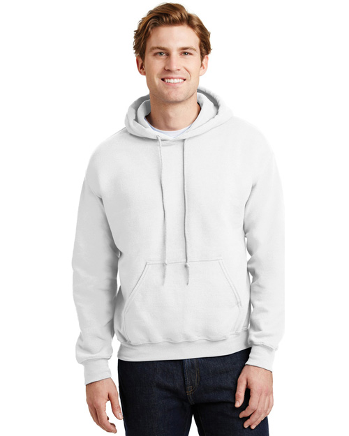 Gildan 18500 Mens Heavy Blend Hooded SweatShirt White at bigntallapparel