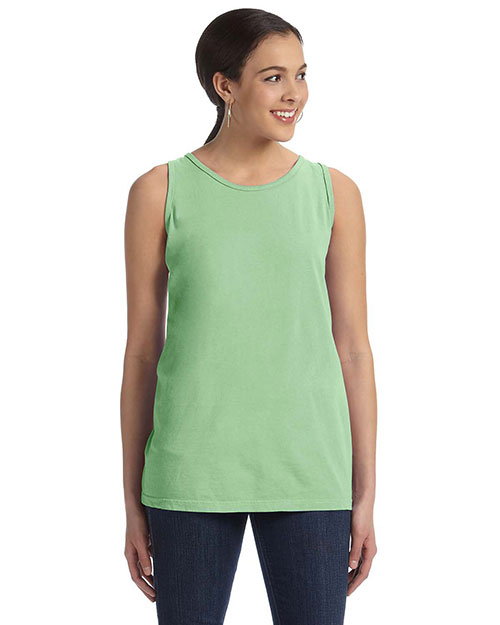 Authentic Pigment 1972 Ladies' 5.6 oz. Pigment-Dyed & Direct-Dyed Ringspun Tank CRICKET GREEN at bigntallapparel