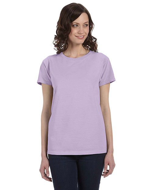 Authentic Pigment 1977 Women 5.6 Oz. Pigment-Dyed & Direct-Dyed Ringspun T-Shirt Lavender at bigntallapparel