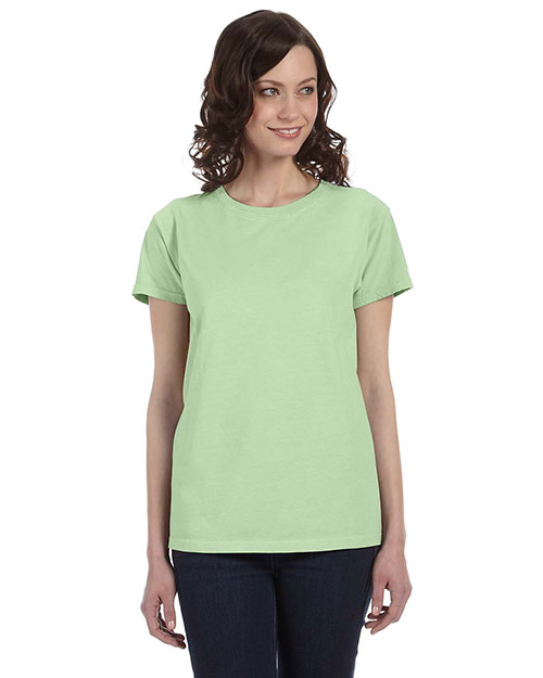 Authentic Pigment 1977 Women 5.6 Oz. Pigment-Dyed & Direct-Dyed Ringspun T-Shirt Celery at bigntallapparel