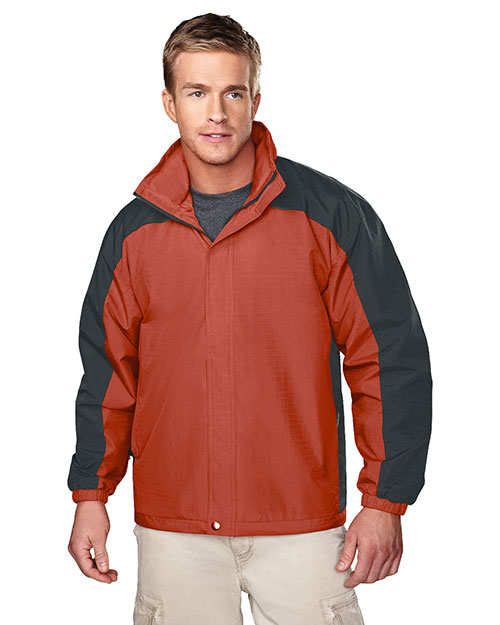Tri-Mountain 2100_T Mens Ripstop Nylon Jacket with Mesh Lining Clay/Charcoal at bigntallapparel