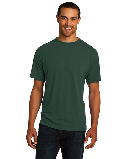 Jerzees 21M  Mens Moisture Management T Shirt Forest Green at bigntallapparel