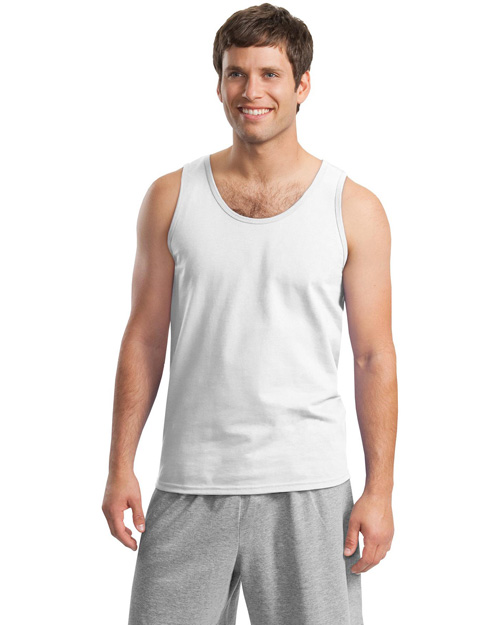 Gildan 2200 Mens Ultra Cotton Tank Top White at bigntallapparel