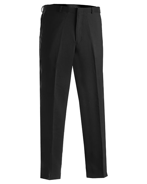 Edwards 2290 MEN'S POLYESTER FLAT FRONT PANT BLACK at bigntallapparel
