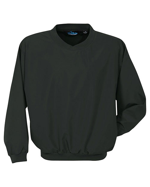 Tri-Mountain 2500 Mens Microfiber Windshirt with Nylon Lining Black at bigntallapparel