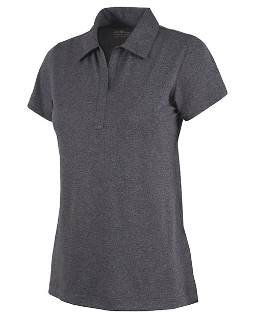 Charles River Apparel 2519 Women Heathered Polo Graphite Heather at bigntallapparel