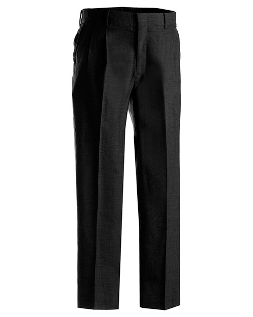 Edwards 2620ED MEN'S WASHABLE WOOL BLEND PLEATED PANT BLACK at bigntallapparel