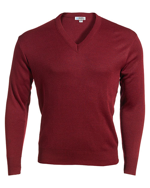 Edwards 265 VALUE V-NECK SWEATER BURGUNDY at bigntallapparel