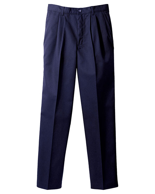 Edwards 2670 Men Blended Chino Pleated Pant Navy at bigntallapparel