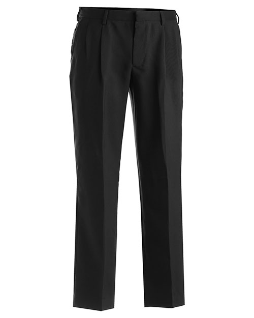 Edwards 2695 Men Polyester Pleated Pant Black at bigntallapparel