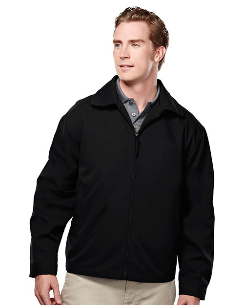 Tri-Mountain 2990 Mens Soft Twill Jacket with Nylon Lining Black at bigntallapparel