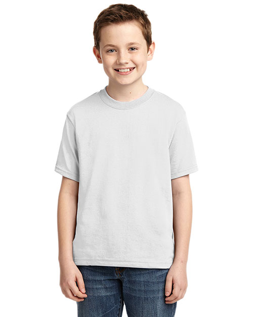 Jerzees 29B ® - 50/50 Poly Cotton 5.6-Ounce T-Shirt.  White at bigntallapparel