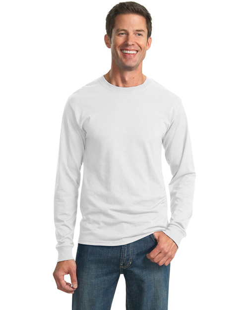 Jerzees 29LS Mens 50/50 Cotton/Poly Long Sleeve T Shirt White at bigntallapparel