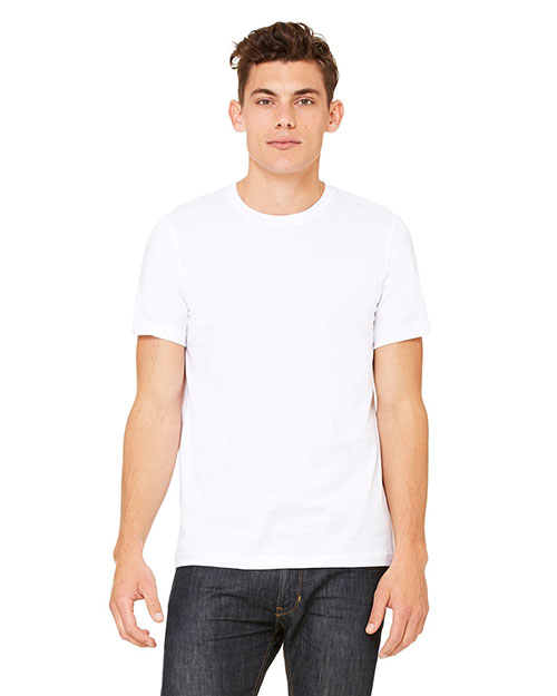 Canvas 3001C Men's Unisex T-Shirt WHITE at bigntallapparel