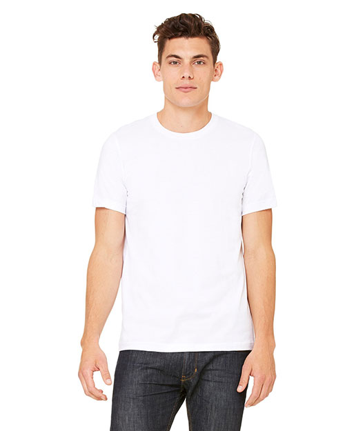 Canvas 3001U Unisex Made in the USA 4.2 oz. Jersey T-Shirt WHITE at bigntallapparel