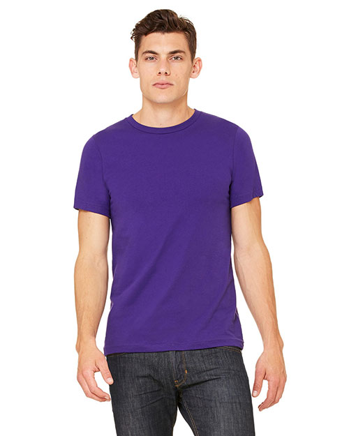 Canvas 3001U Unisex Made in the USA 4.2 oz. Jersey T-Shirt TEAM PURPLE at bigntallapparel
