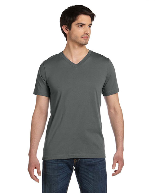 Bella 3005U Men  Made In The Usa Jersey Short-Sleeve V-Neck T-Shirt Asphalt at bigntallapparel