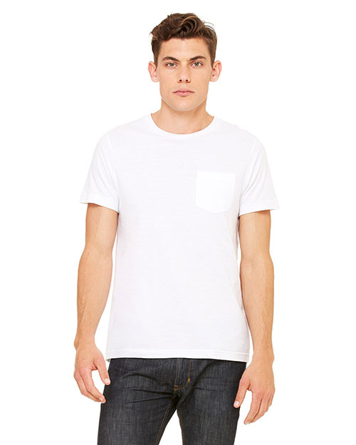 Canvas 3021 Men's 4.2 oz. Jersey Pocket T-Shirt WHITE at bigntallapparel