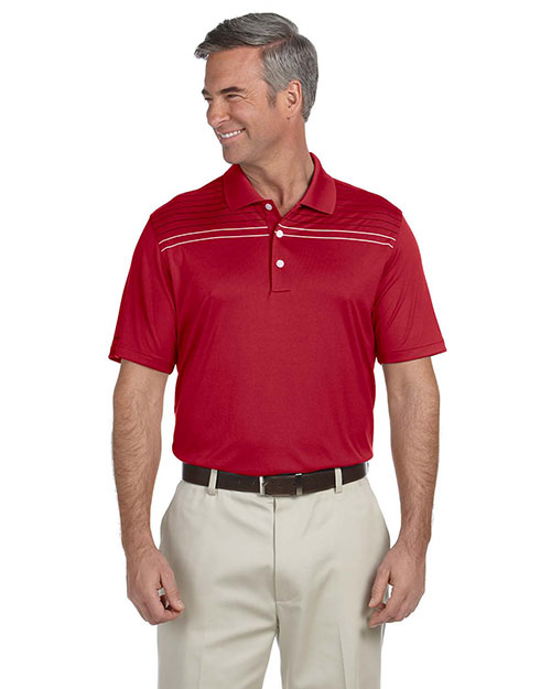 Ashworth 3047 Men's Performance Interlock Print Polo CARMINE RED at bigntallapparel