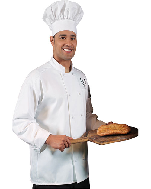 Edwards 3302 Men Classic 10 Knot Button Chef Coat White at bigntallapparel