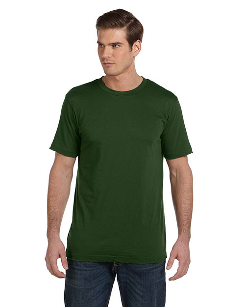 Canvas 3402 Men's 3.8 oz. Sunset Vintage T-Shirt OLIVE at bigntallapparel