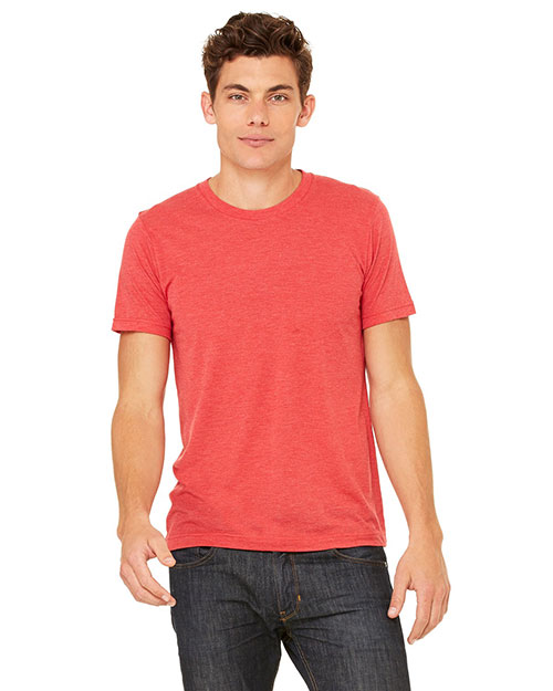 Canvas 3413C Men's 4 oz. Howard Tri-Blend T-Shirt LT RED TRIBLEND at bigntallapparel