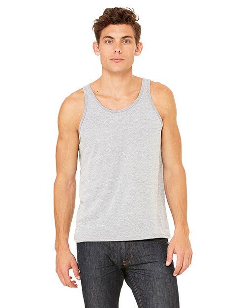 Bella 3480U Unisex Made in the USA Jersey Tank ATHLETIC HEATHER at bigntallapparel