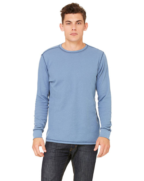 Canvas 3500CA Men's 4.5 oz. Lombard Thermal STEEL BLUE/NAVY at bigntallapparel