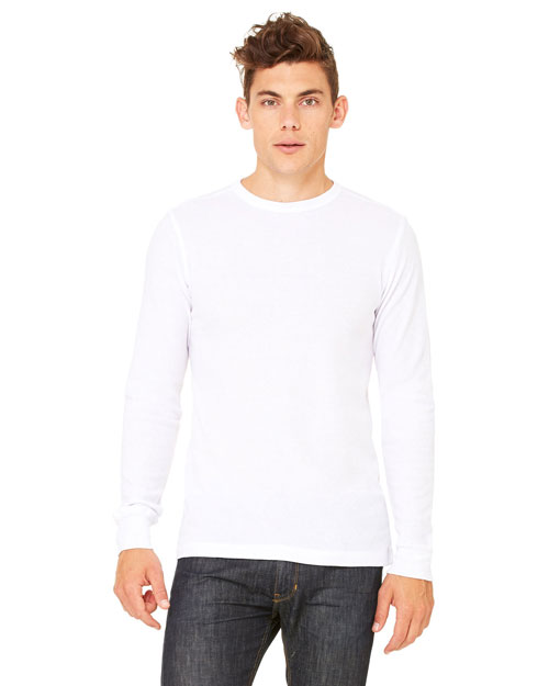 Bella 3500ALP Men's Thermal Long-Sleeve T-Shirt WHITE/WHITE at bigntallapparel