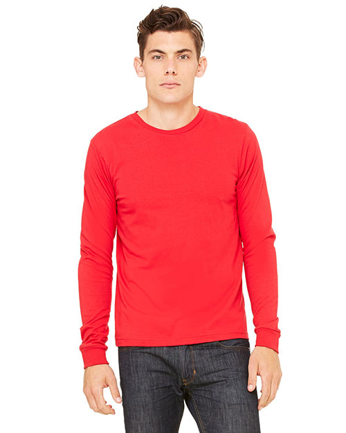 Canvas 3501 Men's 4.2 oz. Filmore Long-Sleeve T-Shirt RED at bigntallapparel