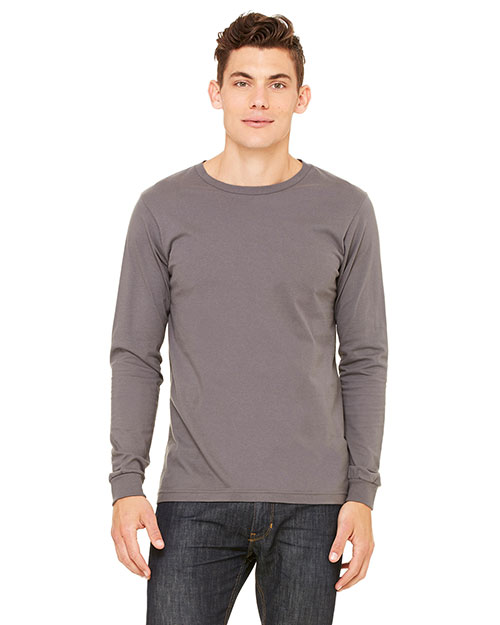 Bella 3501ALP Men's Jersey Long-Sleeve T-Shirt ASPHALT at bigntallapparel