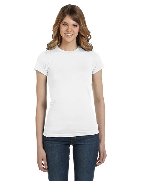 Anvil 379 Ladies' Semi-Sheer Crewneck T-Shirt WHITE at bigntallapparel