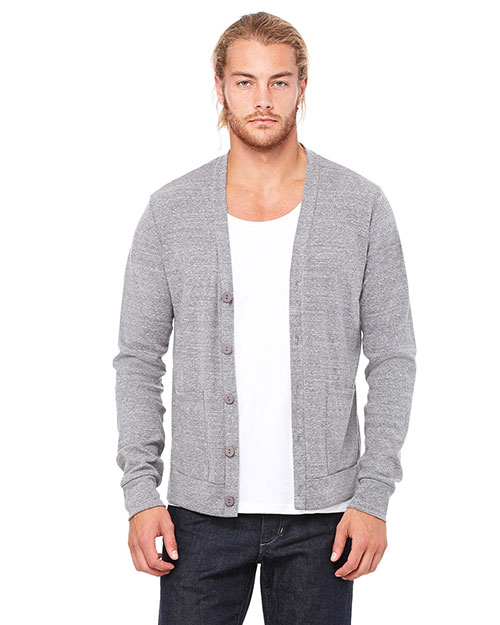 Canvas 3900 Unisex 5.6 oz. Triblend Cardigan GREY TRIBLEND at bigntallapparel
