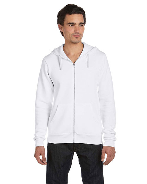 Canvas 3909 Unisex 8.2 oz. Triblend Sponge Fleece Full-Zip Hoodie SOLID WHITE TRBLND at bigntallapparel