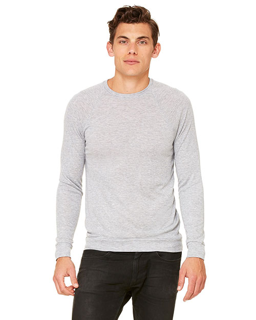 Bella 3981C Unisex Lightweight Sweater ATHLETIC HEATHER at bigntallapparel