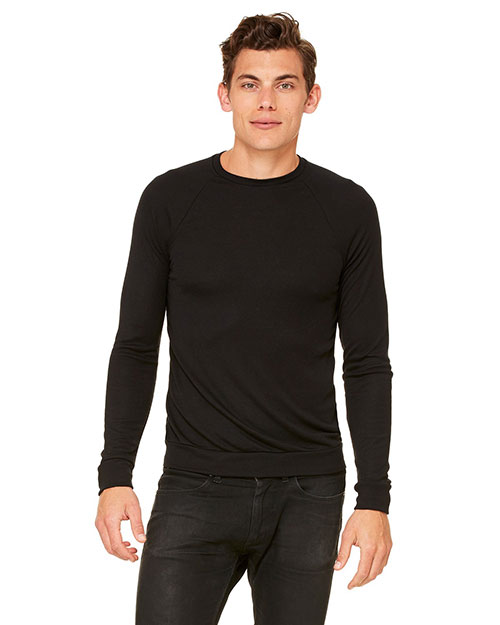 Bella 3981C Unisex Lightweight Sweater BLACK at bigntallapparel