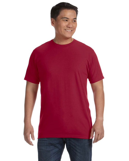 Anvil 450AN 4.8 oz., 50/50 Organic Cotton in Conversion Blend Short-Sleeve T-Shirt INDEPENDENCE RED at bigntallapparel