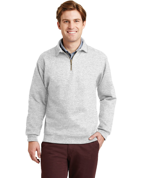 Jerzees 4528M Men Super Sweats 1/4 Zip Sweatshirt With Cadet Collar Birch at bigntallapparel