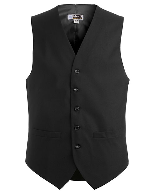 Edwards 4680ED MEN'S HIGH BUTTON VEST BLACK at bigntallapparel