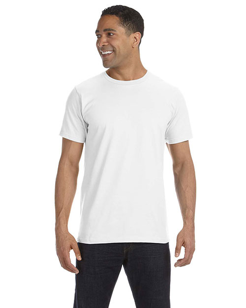 Anvil 490 Men's 4.5 oz., 100% Organic Ringspun Cotton T-Shirt WHITE at bigntallapparel