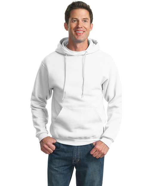 Jerzees 4997M Mens Super Sweats Pullover Hoodie SweatShirt White at bigntallapparel