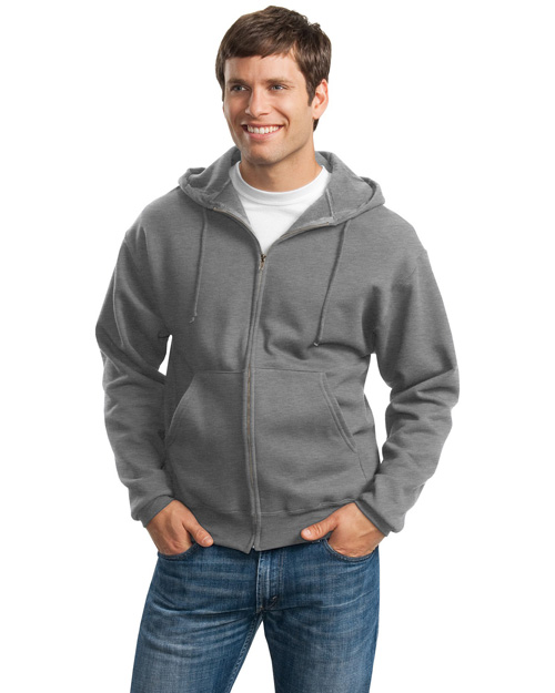 Jerzees 4999M Mens Super Sweats Full Zip Hooded SweatShirt Oxford at bigntallapparel